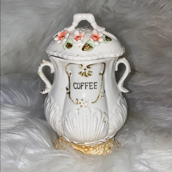 Vintage Coffee Floral Pottery